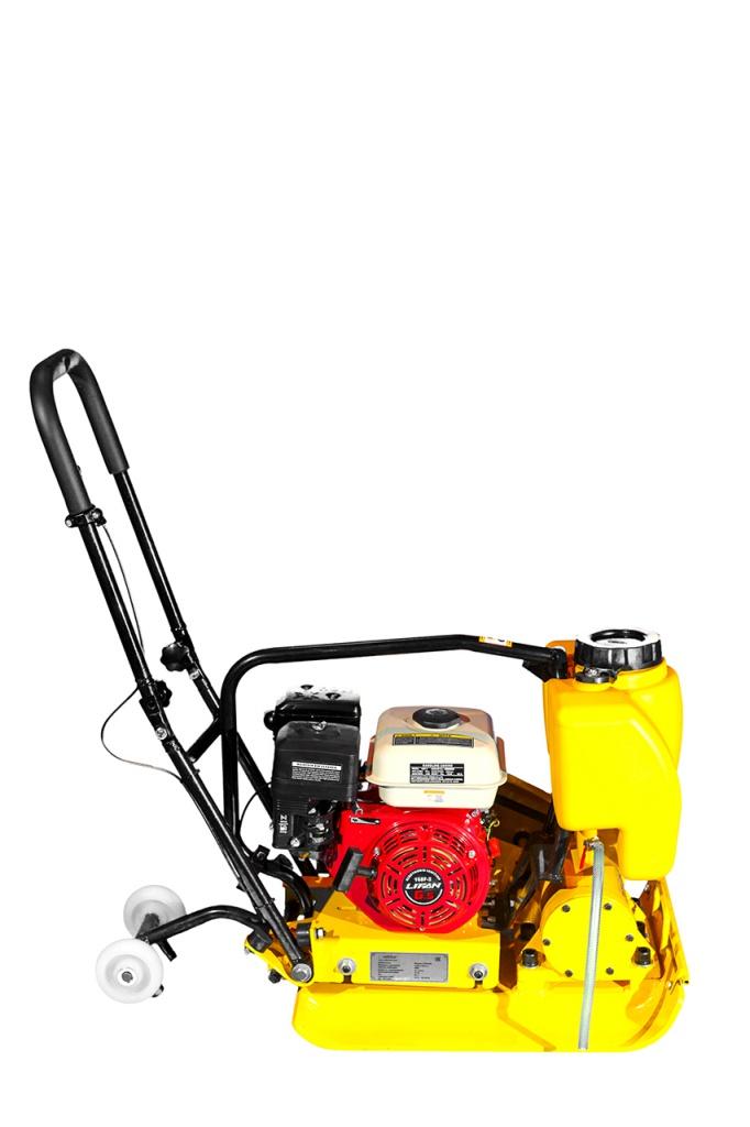Виброплита VPG-90В (вес нетто 90 кг, складывающаяся ручка, складывающиеся транспортировочные колёса,