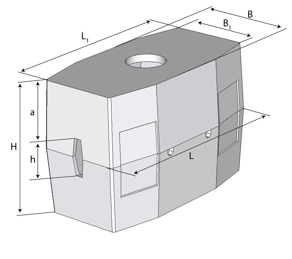 Колодец ККСр-3-80 ГЕК (с 4-мя нишами)