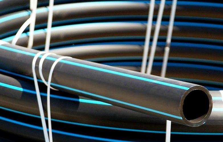 Труба напорная ПНД ПЭ100 SDR21 d90 х 4.3 L=100 м (бухта) ГОСТ 18599-2001 без защитного слоя Протект