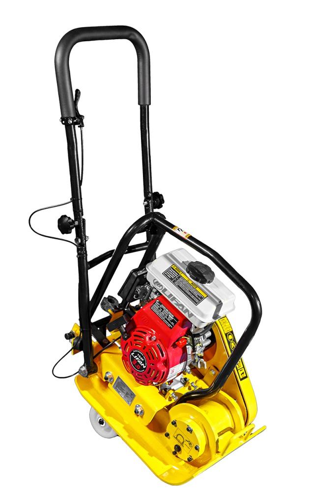 Виброплита VPG-70В (вес нетто 71 кг, складывающаяся ручка, складывающиеся транспортировочные колёса,